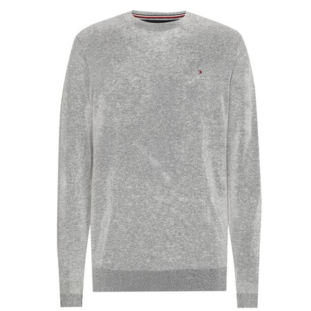 Tommy Hilfiger Grey Regular Fit Crew Neck Jumper 4
