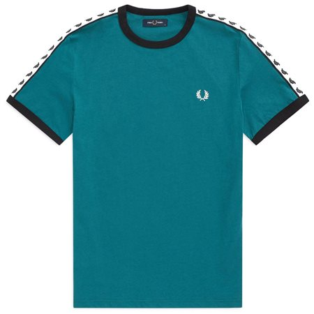 Fred Perry Petrol Ringer T-Shirt  - Click to view a larger image