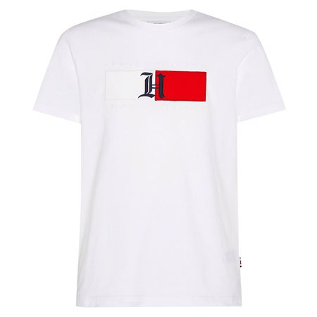 Tommy HilfigerXLewis Hamilton White Relaxed Fit Logo T-Shirt  - Click to view a larger image