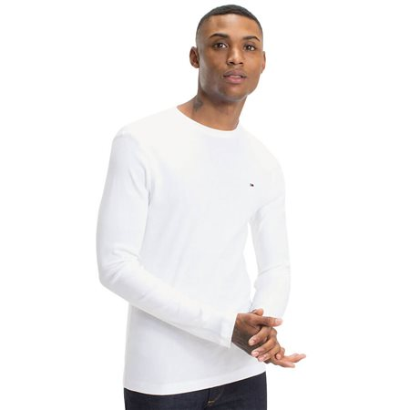 Tommy Hilfiger White Long Sleeve  Organic Cotton T-Shirt 1