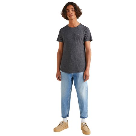Tommy Hilfiger Black Slim Jaspe T-Shirt 4