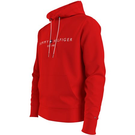 Tommy Hilfiger Firework Red Tommy Logo Hoodie 4