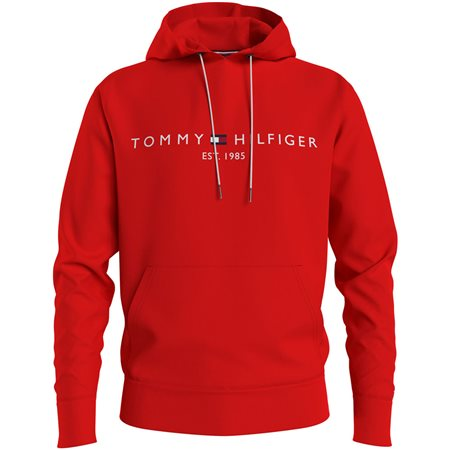 Tommy Hilfiger Firework Red Tommy Logo Hoodie 1