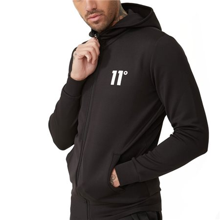 11 Degrees Black Poly Zip-Up Hoodie  - Click to view a larger image