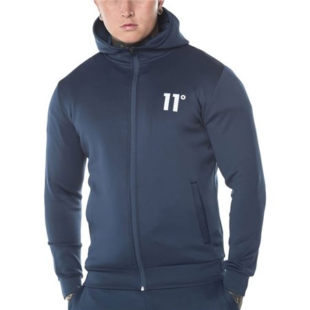 11 Degrees Insignia Blue Poly Zip-Up Hoodie  - Click to view a larger image