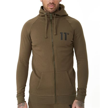 11 Degrees Khaki Core Zip-Up Hoodie  - Click to view a larger image