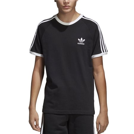 adidas Originals Black 3-Stripes T-Shirt  - Click to view a larger image