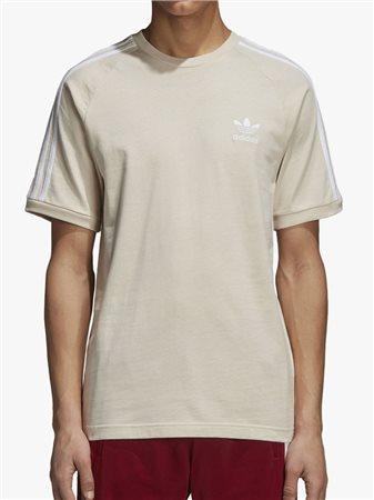 ce4457a078afb adidas Originals 3 Stripe T-Shirt Linen - Click to view a larger image