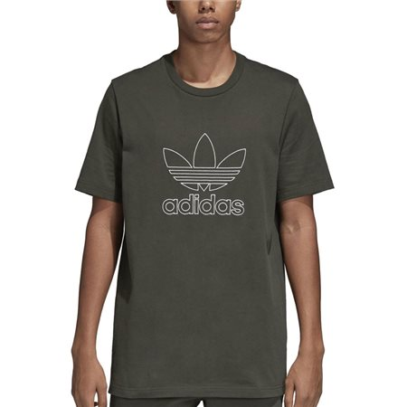 adidas Originals Cargo Green Outline Logo T-Shirt  - Click to view a larger image