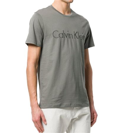Calvin Klein Jalo 6 Print T-Shirt Gunmetal  - Click to view a larger image