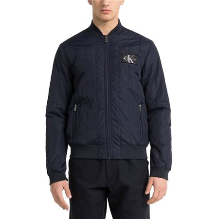 Calvin Klein Quilted Bomber Jacket Night Sky  - Click to view a larger image
