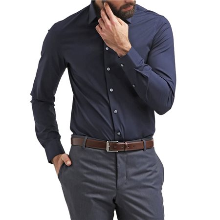 Calvin Klein Bari Slim Fit Shirt Midnight Blue  - Click to view a larger image