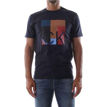 Calvin Klein Cotton Logo T-Shirt Sky Captain  - Click to view a larger image