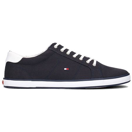 Tommy Hilfiger Footwear Midnight Harlow 1d Canvas Lace Up Trainers  - Click to view a larger image