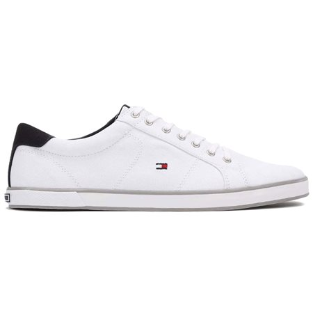 Tommy Hilfiger White Harlow 1d Canvas Trainers  - Click to view a larger image