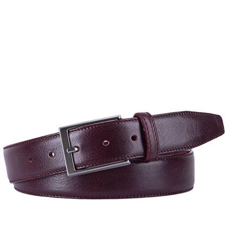 Michaelis Leather Belt Bordeaux  - Click to view a larger image