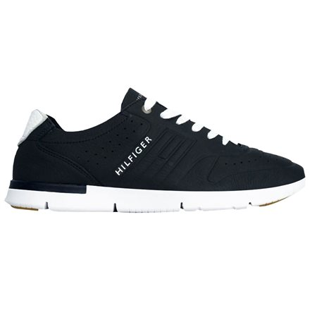 0eb810928 Tommy Hilfiger Footwear Light Leather Trainer Midnight - Click to view a  larger image