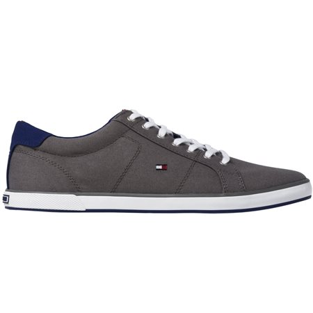 Tommy Hilfiger Footwear Steel Grey Harlow 1d Canvas Lace Up Trainers  - Click to view a larger image