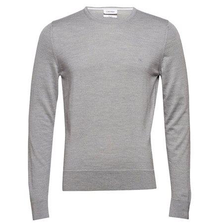 0429d8a0dd39 Calvin Klein Crew Neck Sweater Light Grey Heather