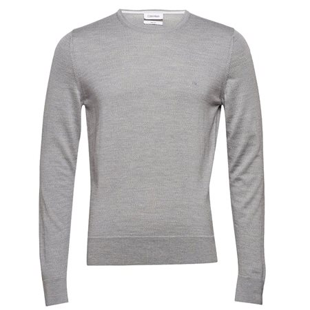 Calvin Klein Crew Neck Sweater Light Grey Heather  - Click to view a larger image
