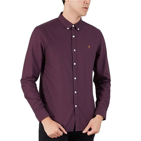 Farah Blackberry Brewer Slim Fit Oxford Shirt  - Click to view a larger image