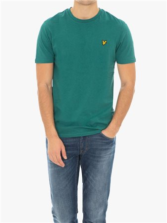 Lyle & Scott Marl Crew Neck Tee Green  - Click to view a larger image