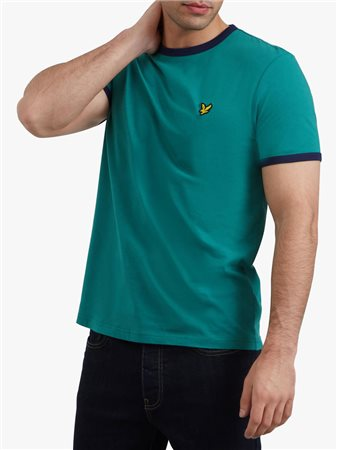 Lyle & Scott Ringer Tee Green  - Click to view a larger image