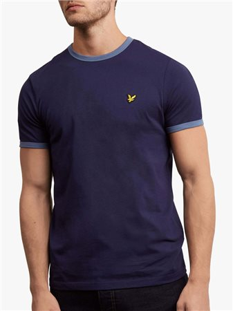 Lyle & Scott Ringer Tee Navy  - Click to view a larger image