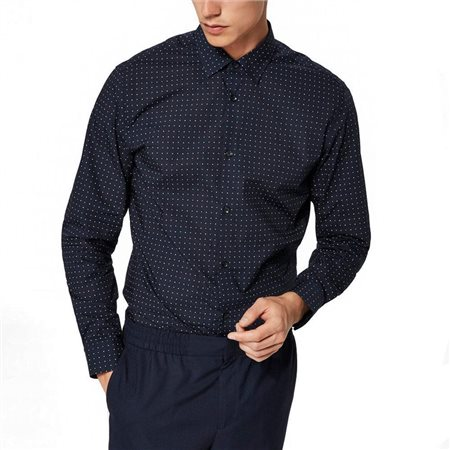 Selected Homme Dark Sapphire Blink Pattern Shirt  - Click to view a larger image