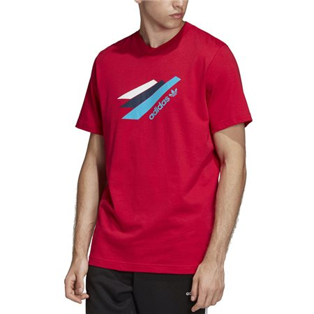 adidas Originals Red Palmeston T-Shirt  - Click to view a larger image