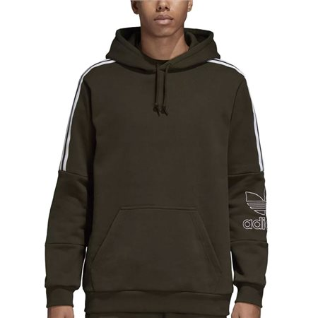 adidas Originals Green Outline Logo Hoody  - Click to view a larger image