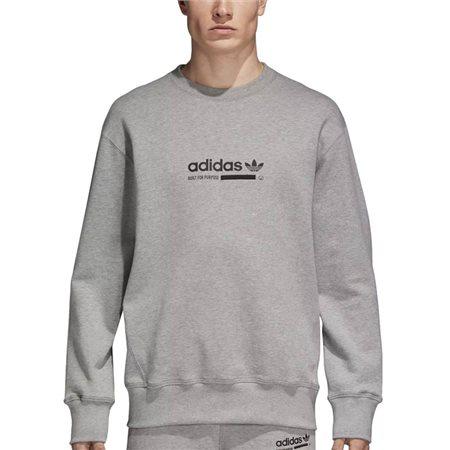adidas Originals Grey Kaval Crew Neck Sweat Top  - Click to view a larger image