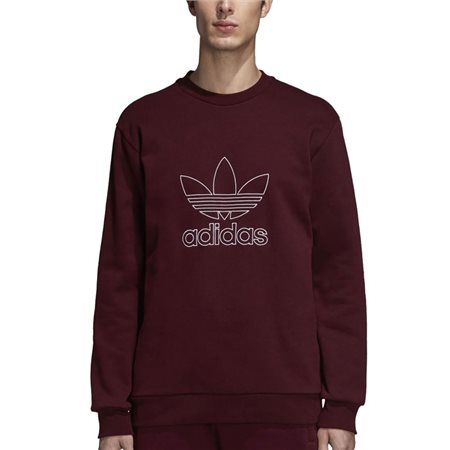 adidas Originals Maroon Outline Crew Neck Sweat Top  - Click to view a larger image