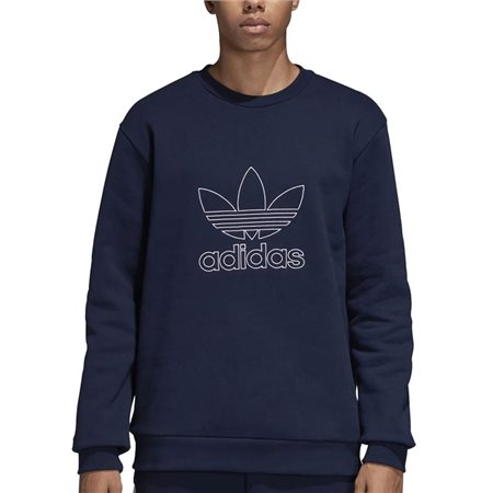adidas Originals Navy Outline Crew Neck Sweat Top  - Click to view a larger image
