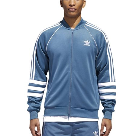 adidas Originals Blue/White Auth Track Top  - Click to view a larger image