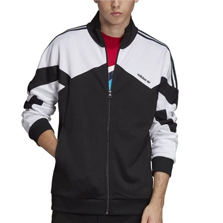 adidas Originals Black/White Full Zip Track Top  - Click to view a larger image
