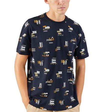 Farah True Navy London Printed T-Shirt  - Click to view a larger image