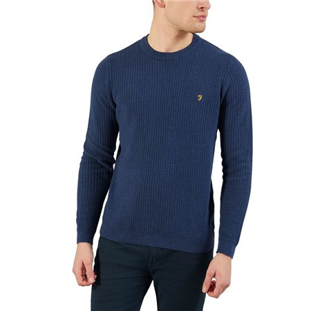Farah Yale Marl Orbital Crew Neck Sweater  - Click to view a larger image