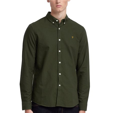 Farah Evergreen Brewer Slim Fit Oxford Shirt  - Click to view a larger image