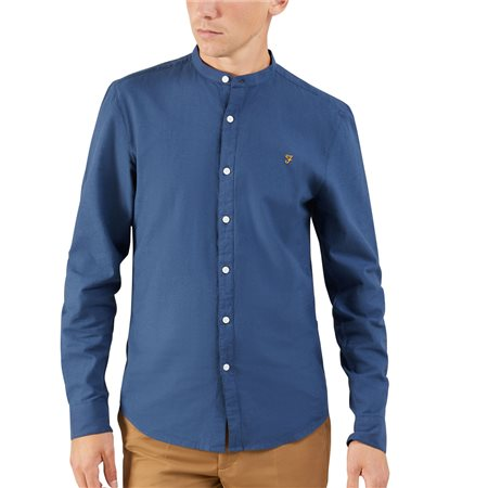 Farah Yale Owens Grandad Collar Shirt  - Click to view a larger image