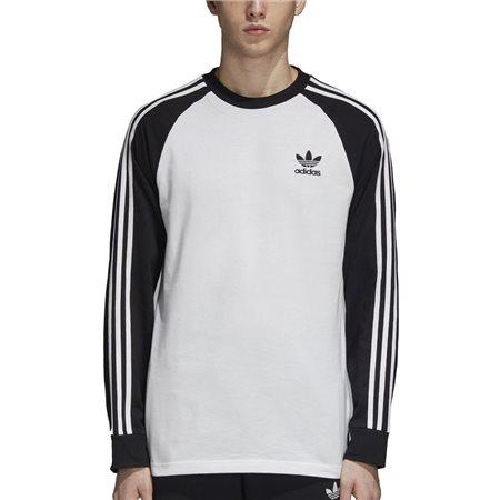 nouveau concept d4d71 fd0dc White 3-Stripe Long Sleeve T-Shirt - S
