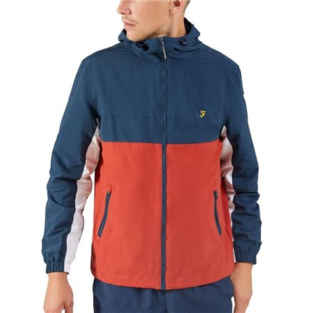 Farah Yale Bonnett Colour Block Jacket  - Click to view a larger image