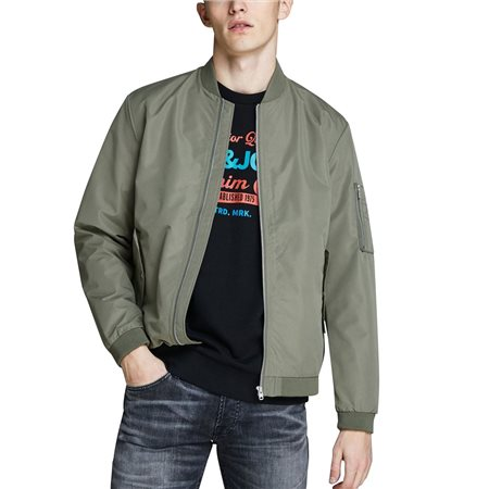 Jack & Jones Essentials Desert Lightweight Bomber Jacket  - Click to view a larger image