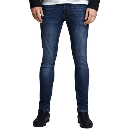 Jack & Jones Intelligence Dark Blue Liam 014 Skinny Jeans  - Click to view a larger image