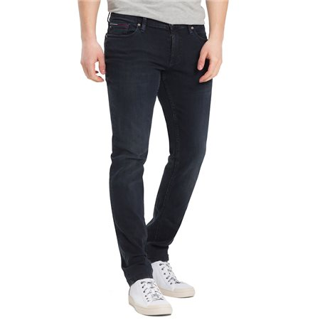 Tommy Jeans Cobble Black Comfort Dark Wash Scanton Slim Jeans  - Click to view a larger image