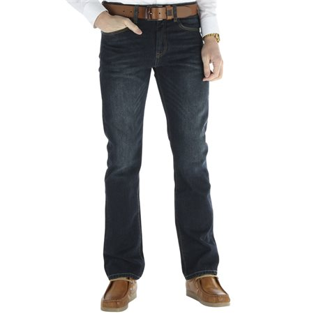 Diesel Dark Blue Wash Clark Dexter Bootcut Jean  - Click to view a larger image