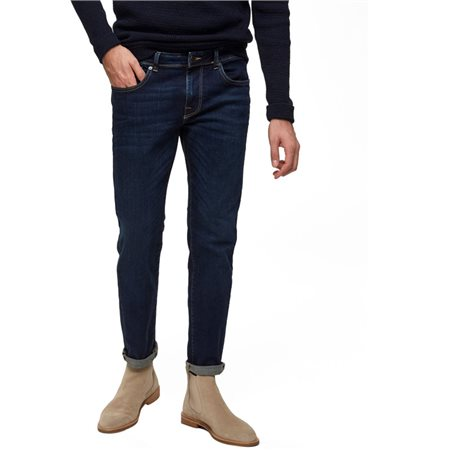 Selected Homme Dark Blue Wash Leon 1003 Slim Jean  - Click to view a larger image