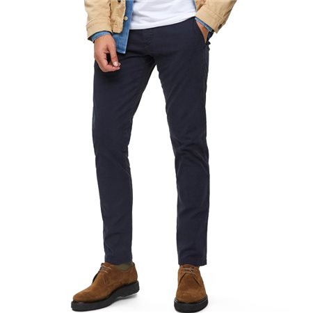 Selected Homme Navy Blazer Luca Skinny Stretch Chino  - Click to view a larger image