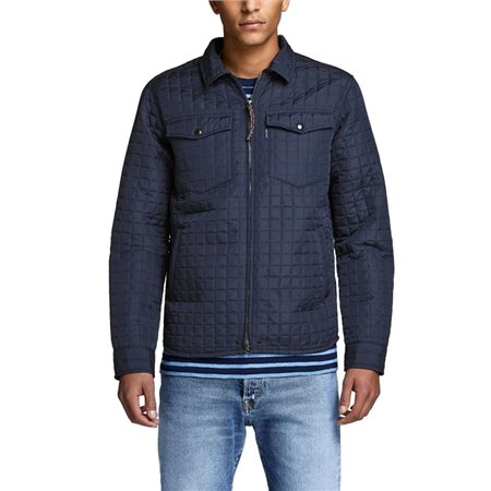 Jack & Jones Premium Navy Blazer Jay Quilted Overshirt  - Click to view a larger image