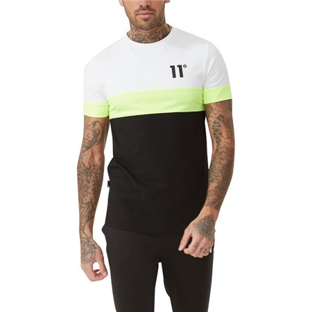 11 Degrees Black/White Neo Triple T-Shirt  - Click to view a larger image
